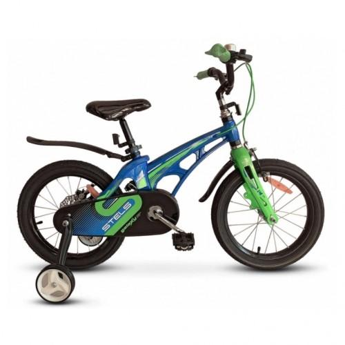 Велосипед 14  Stels  Galaxy V010 синий/зелёный 2021