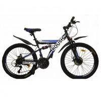 Велосипед 24 Roush 24MD100-1 синий матовый  АКЦИЯ!!!