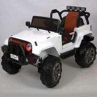 Электромобиль детский Jeep 45457 (Р) Полный привод! белый