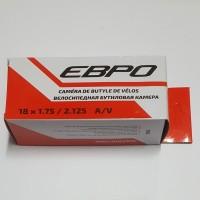 Велокамера 18  18*1,75/2,125 нипель 35мм ЕВРО