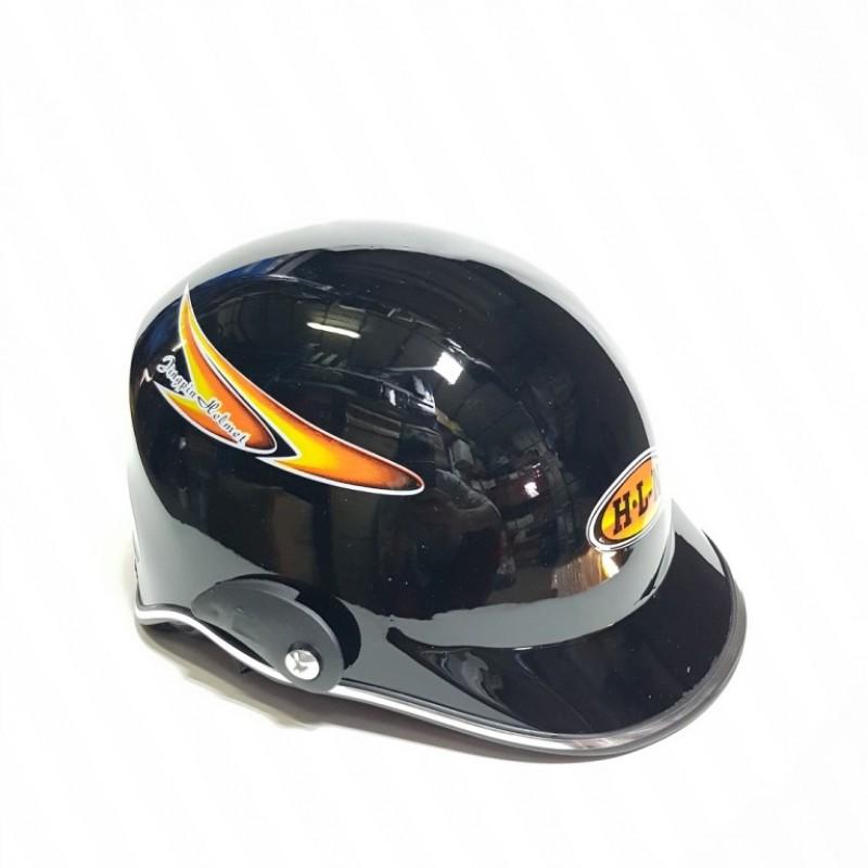 Шлем  мотоциклетный Helmet H-L-N маленьк чёрный