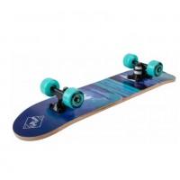 Скейтборд  ТТ  Profi 64*17см (12) Цвет: Морсквая волна, узоры,колесо бирюзовые
