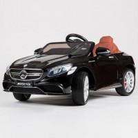 Электромобиль детский Mercedes-Benz S63 AMG (HL-169)   45483  (Р)  черный, глянцевый