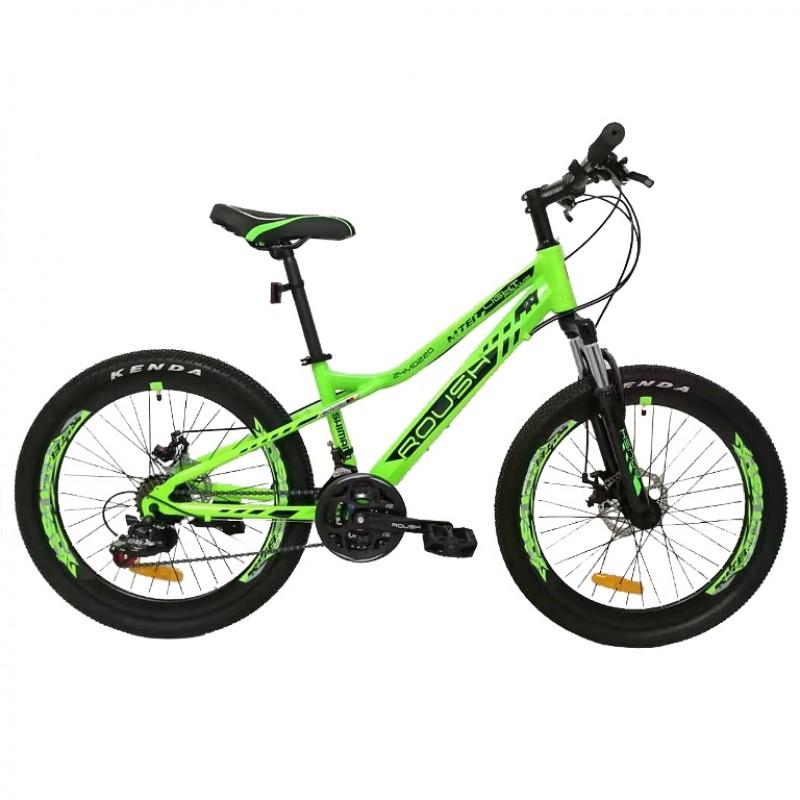 Велосипед 24 Roush 24MD220-3 зелёный матовый