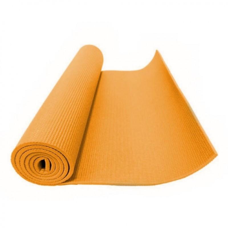 Коврик для фитнеса маленький (йога) оранжевый 3мм