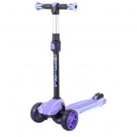Детский самокат Tech Team SURFGIRL 2021 (фиолетовый) со светящимися колесами 1/4 (Р)