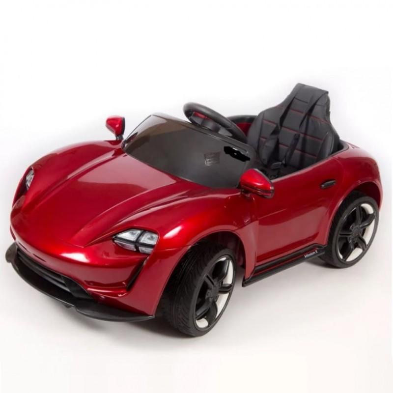 Электромобиль детский Porsche Sport  45501  (Р)  вишневый -глянец