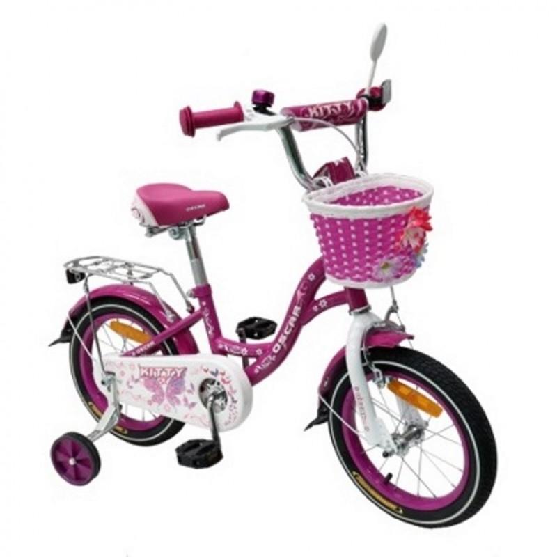 Велосипед 12 OSCAR KITTY фиолетовый/белый