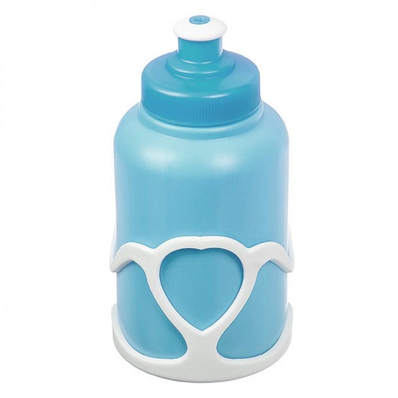 Велофляга X95405 STG с флягодержателем детская голубой-белый