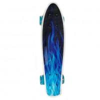 Скейтборд  Ecoline ULSTER (6) пластиковый синий огонь