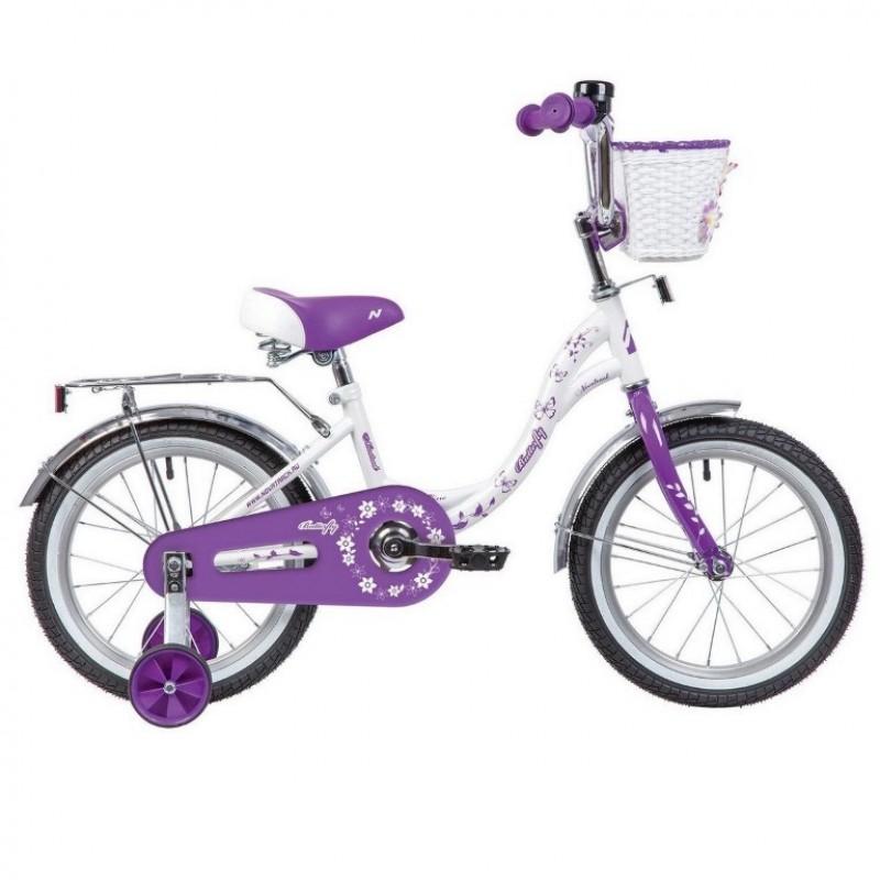 Велосипед 16 Novatrack BUTTERFLY.WVL20 белый-фиолетовый