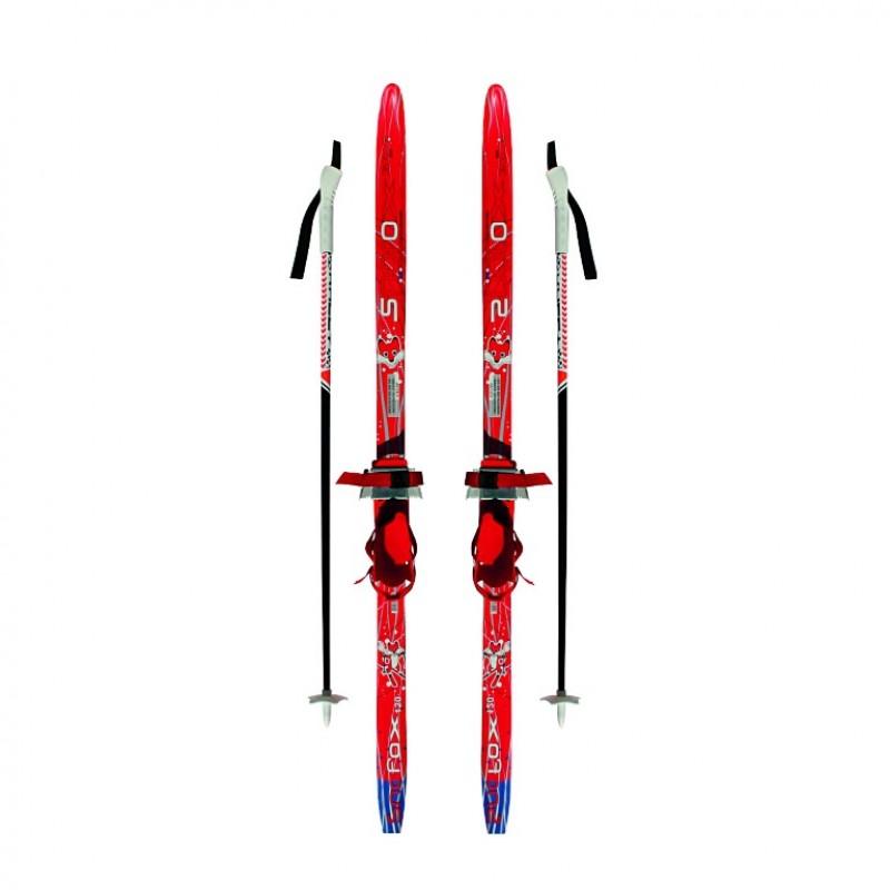 Лыжный комплект Комби  ТТ 110см (4)+палки+креп.