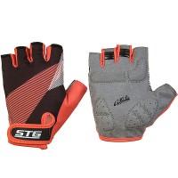 Перчатки STG  Х87912-М летние с защитной прокладкой,застежка на липучке,размер М,черн/красный