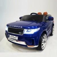 Детский электромобиль RANGE SPORT  41219 синий глянец 12в р-у кож 123*60*60