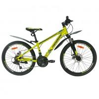 Велосипед  24 Nameless J4100D, жёлтый/синий