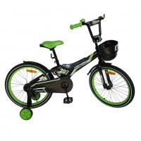 Велосипед 20 Nameless Cross, чёрный/зелёный