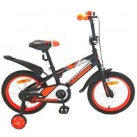 Велосипед 14 Nameless Sport чёрный/оранжевый