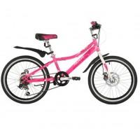 Велосипед 20 Novatrack SH6D.ALICE.PN21 6 скоростей,  розовый  АКЦИЯ!!!