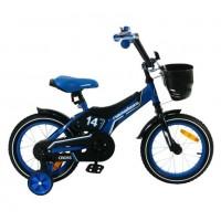 Велосипед 14 Nameless Cross, синий/черный