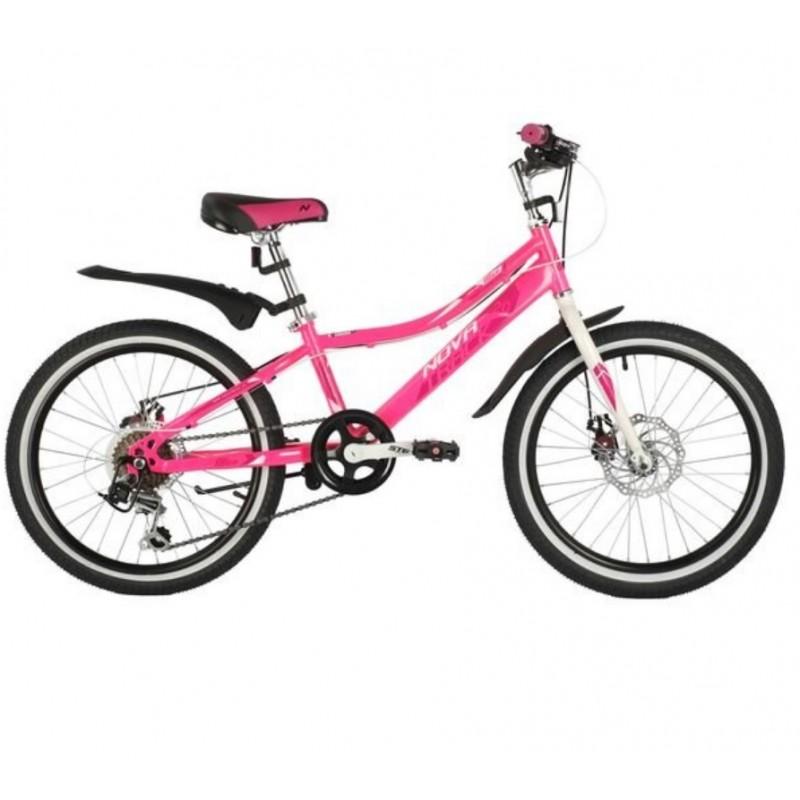 Велосипед 20 Novatrack SH6D.ALICE.PN21 6 скоростей,  розовый