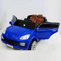 Электромобиль детский Porsche  Е008КХ синий 12в р-у кож