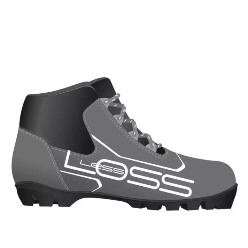 Ботинки лыжные 36р. NNN Spine Loss сер-чёр с мех