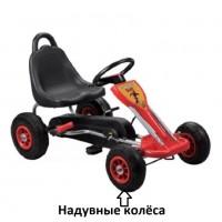Педальная машина  ST00005-RD красный надувные колеса 89*52*51см