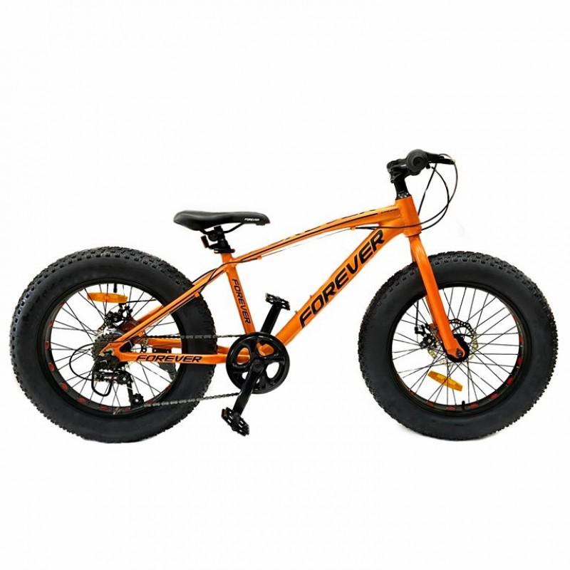 Велосипед 20  Fat bike FOREVER оранжевый