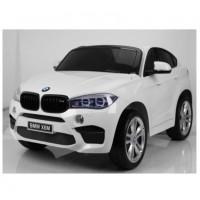 Электромобиль детский BMW X6M 45551 (Р) двухместный белый