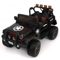 Электромобиль детский Jeep Wrangler45456 (Р) полный привод (4х4). черный