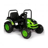 Детский электромобиль трактор TR001,  51627 с прицепом зеленый (Р)